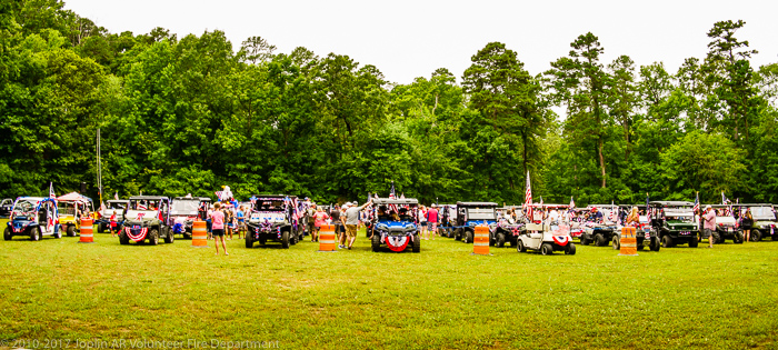 A great crowd with their dressed-up ATVs attending the patriotic ceremony honoring The United States of America<br />(Click on this image to view more photos from the event!)